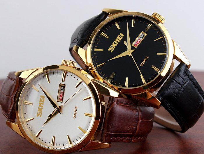 Đồng hồ dây da Skmei 9073 chống nước dành cho quý ông