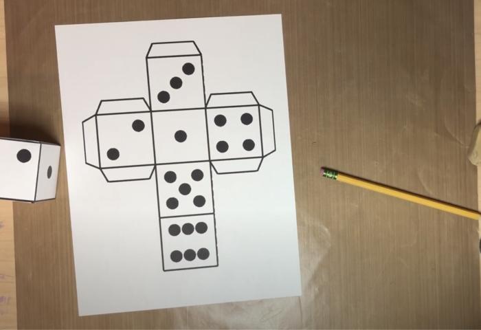 Vẽ khuôn giấy làm xúc xắc
