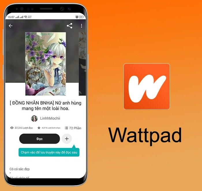 Ứng dụng đọc sách Wattpad