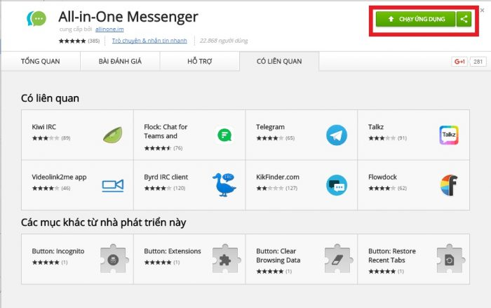 Ứng dụng All in One Messenger