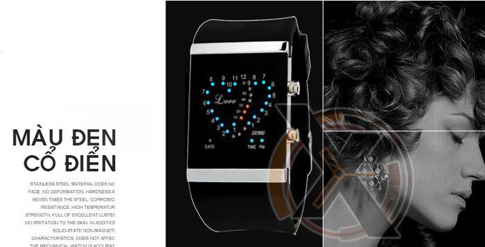 Đồng hồ Led light hình trai tim