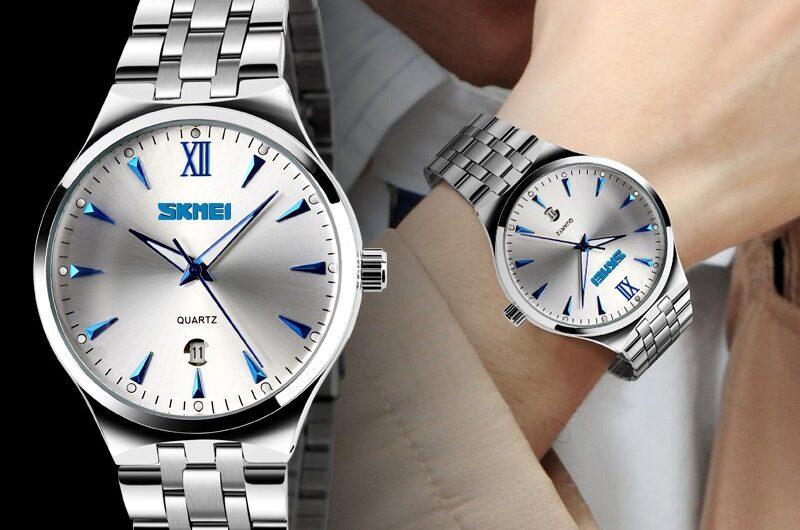 Đồng hồ Skmei nam 9071 dây kim loại giá tốt