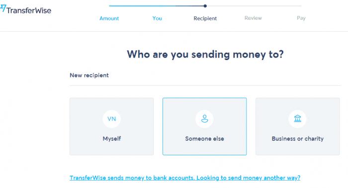 chuyển tiền nhanh vơi transferwise