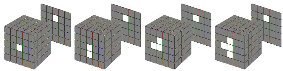 Tạo hình chữ thập rubik 5x5 như thế nào