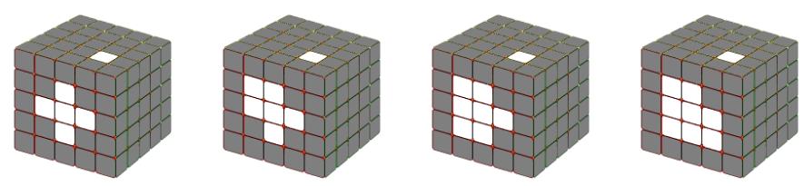 Hoàn thành mặt trung tâm rubik 5x5