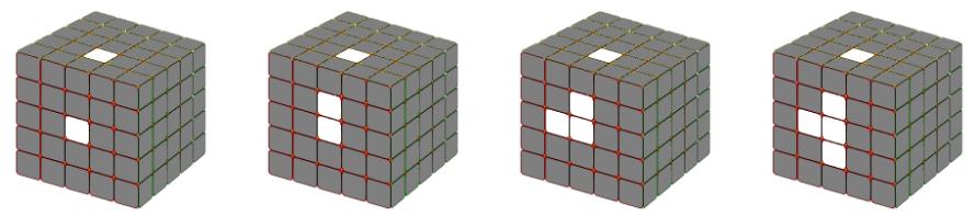 Cách Tạo hình chữ thập ở mặt cần giải rubik 5x5