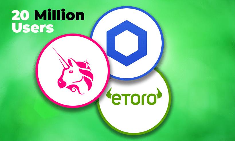 Dịch vụ tiền điện tử tại Etoro sẽ có thêm Chainlink và Uniswap