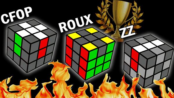 Tìm hiểu 3 phương pháp: CFOP/ ROUX/ ZZ